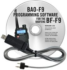 BAO-F9 Programming Software and USB-K4Y cable for the  Baofeng/P