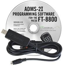 ADMS-2I Programming Software and USB-29B cable for the FT-8800