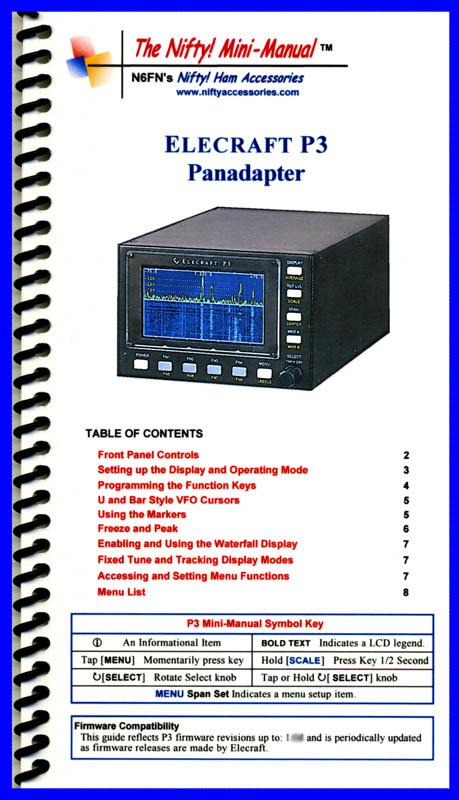 Elecraft P3 Panadapter Mini manual