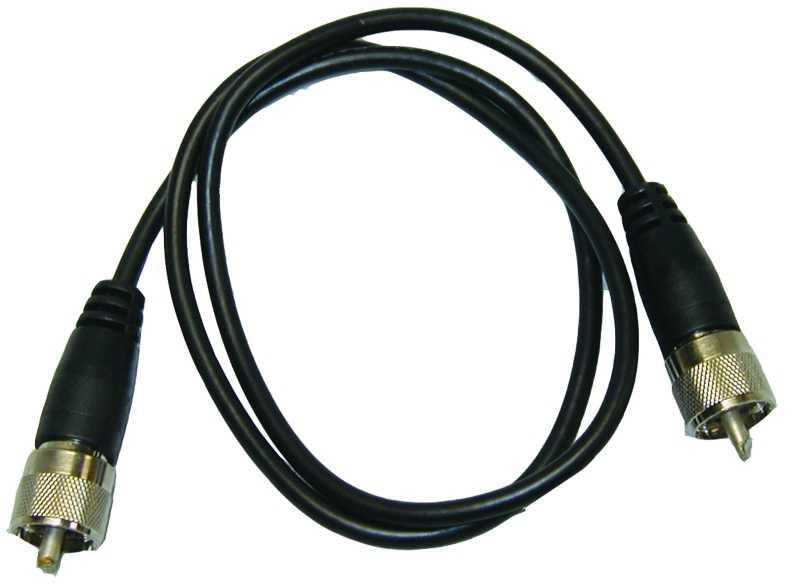 MFJ-5803 3 Foot Coax Patch Cable, RG-58A/U w/ 2 PL-259 Connector