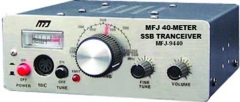 MFJ-9440X 40M SSB Travel radio with microphone