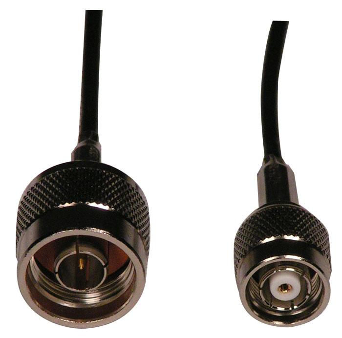 MFJ-5606TR - 6 Foot RG174 Cable w/ N Male and RP-TNC Connectors