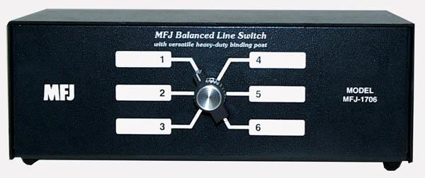 MFJ-1706H 6-way balanced Line Switch