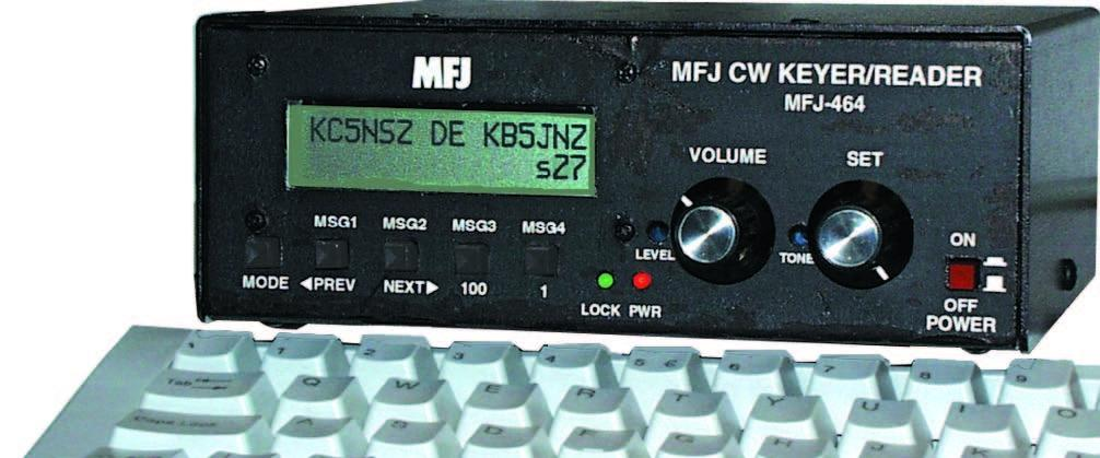 MFJ-464 Morse Reader with Built-in Keyer