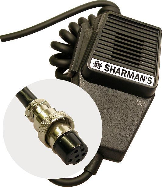 SHARMAN'S DM520P6 COFFIN MICROPHONE W/ 6PIN PLUG (MAYCOM/MIDLAND