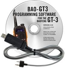 BAO-GT3 Programming Software and USB-K4Y cable for the  Baofeng