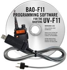 BAO-F11 Programming Software and USB-K4Y cable for the  Baofeng