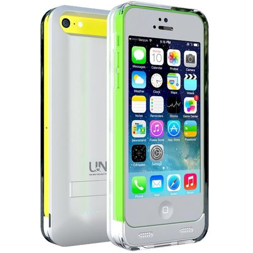 uNu Reveal Protective 2400mAh Battery Case iPhone 5/5C/5S Glossy