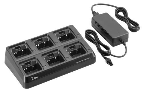 Icom BC-197 6-Way Multi-Charger for Icom Handhelds