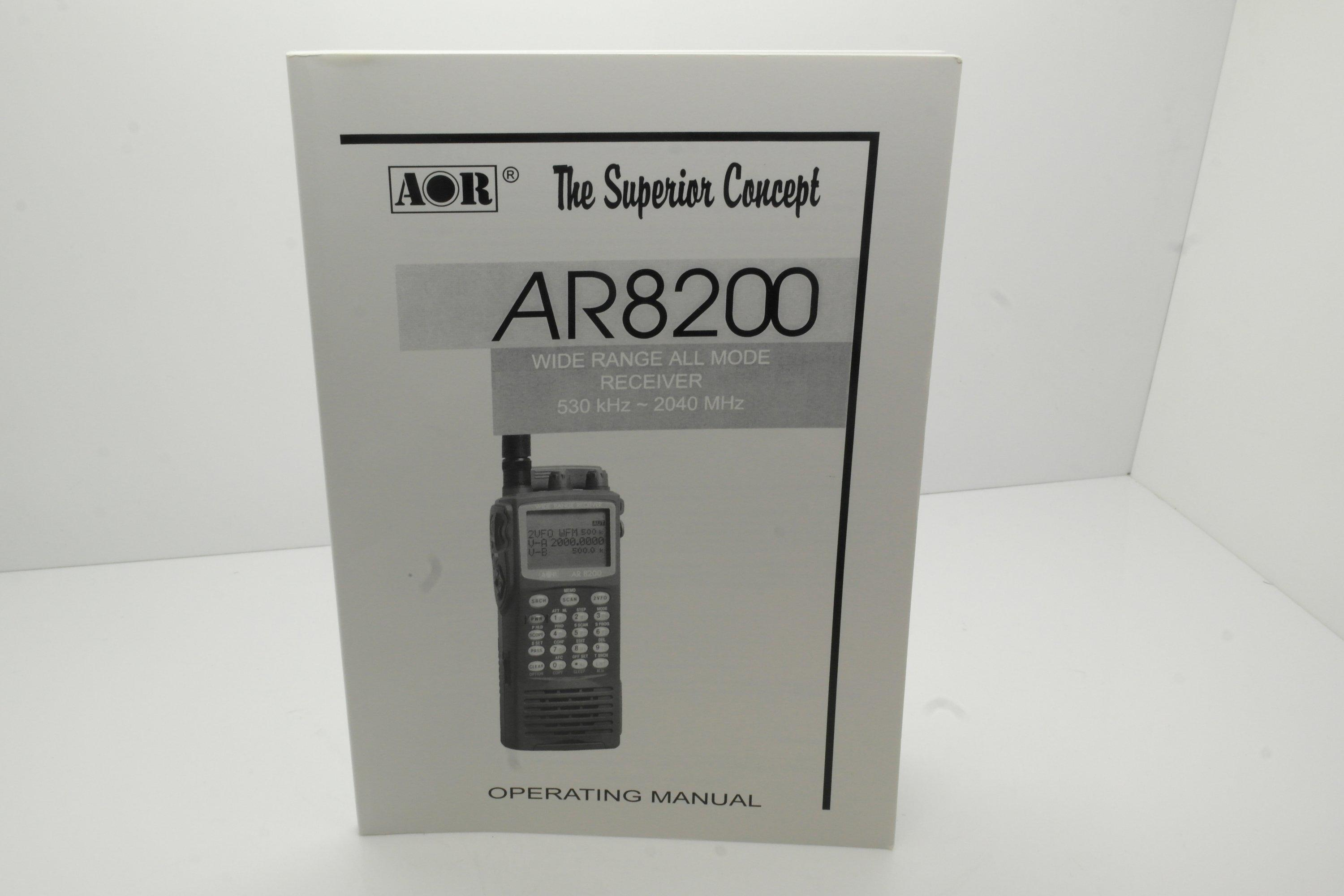 AOR AR8200 Operating Manual