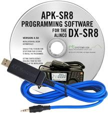 APK-SR8 Programming Software and USB-29A cable for the Alinco DX