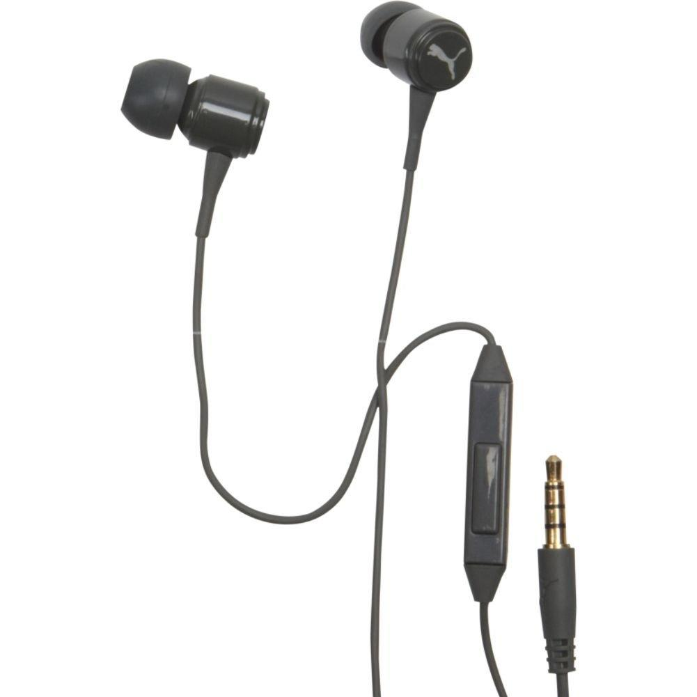 Puma Roadies In Ear Headphones with Mic - Black