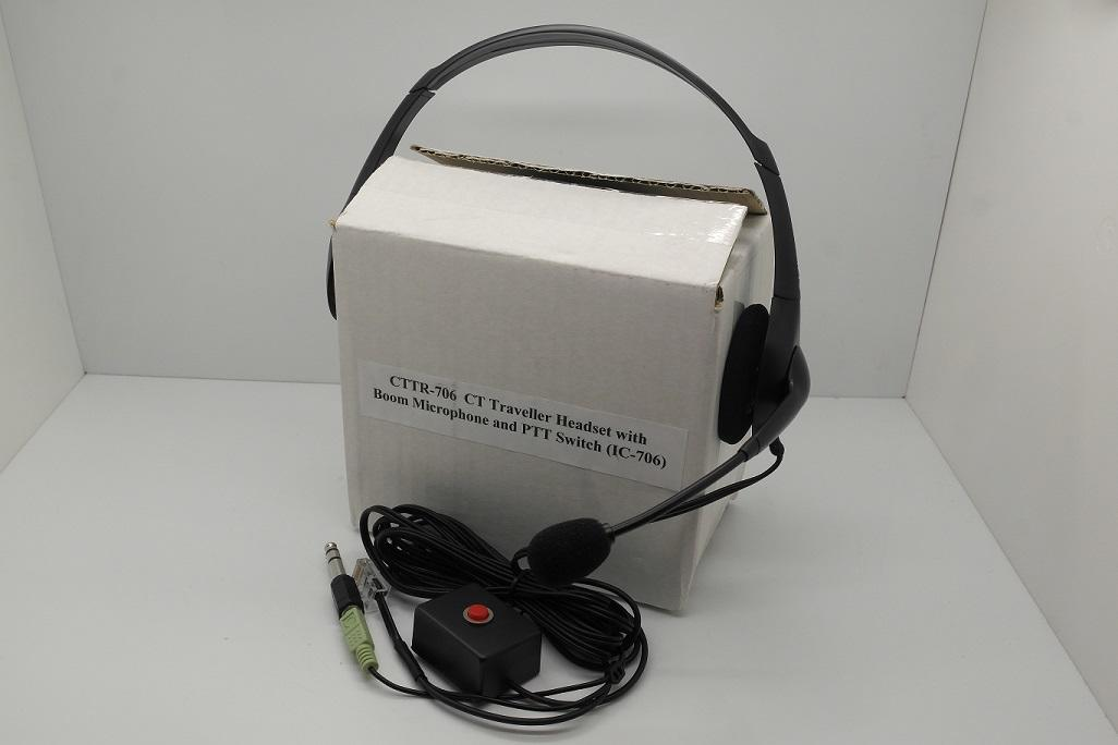 CTTR Headset With Boom Microphone & PPT Wired For IC-706