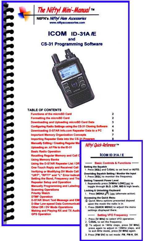 ID-31A /E Nifty Mini Manual