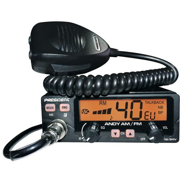President Andy ASC 12/24V AM/FM CB Mobile Radio