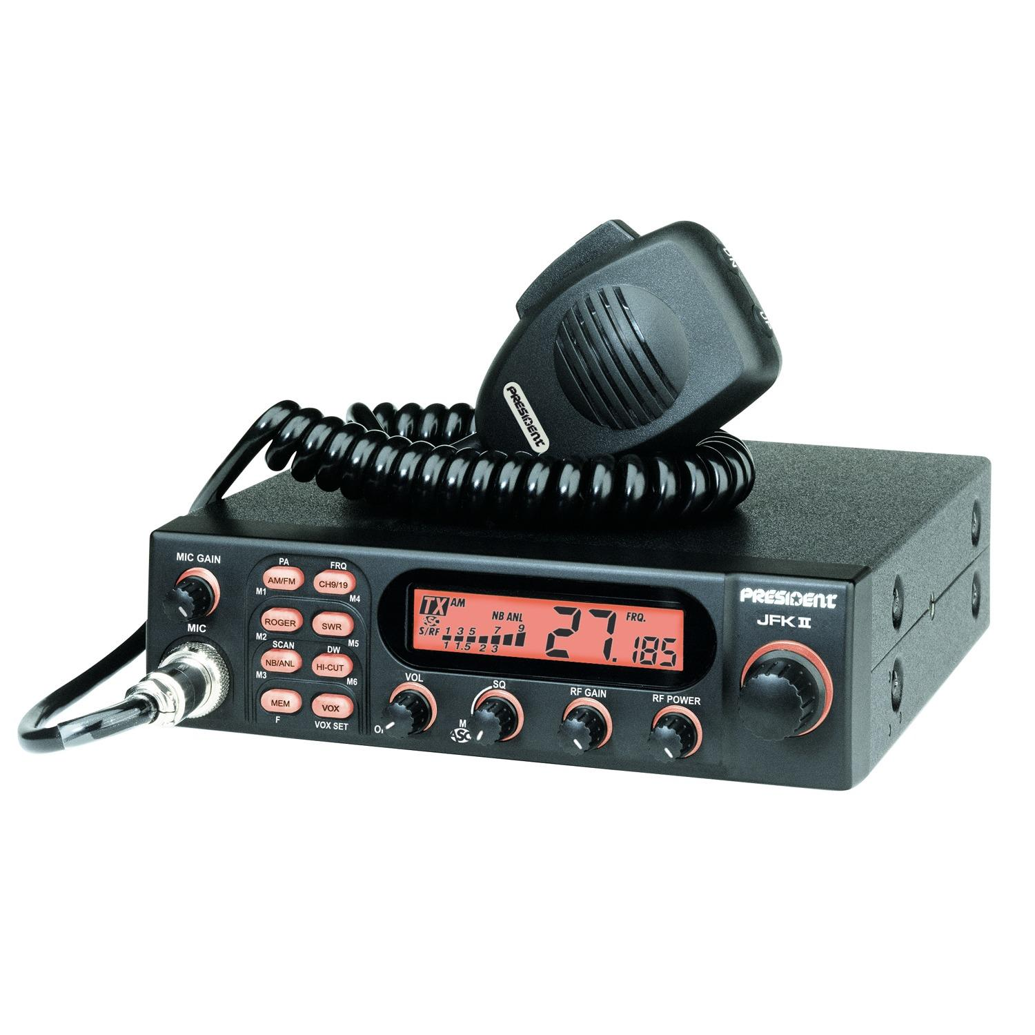 President JFK-2 Transceiver CB Mobile, AM/FM