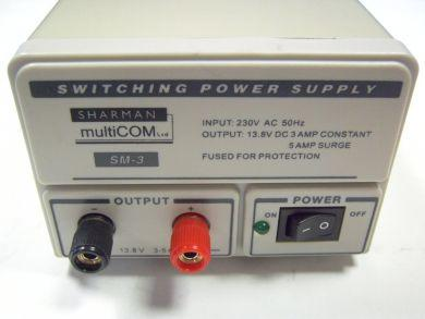 Sharman SM-3 Fixed 13.8V, 3/5AMP Switch Mode Power Supply