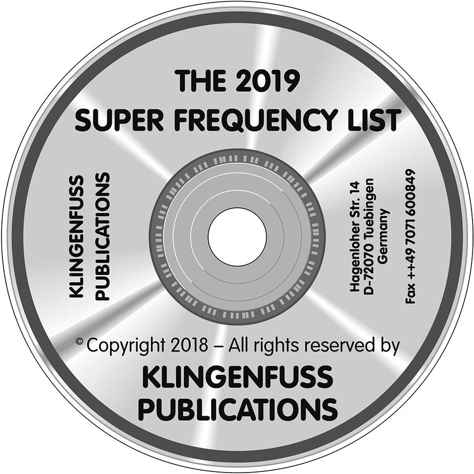 2019 Super Frequency List on CD