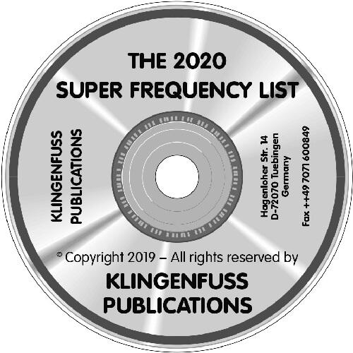 2020 Super Frequency List on CD