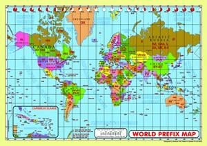 World Prefix Map Desk - WPMD-MAP