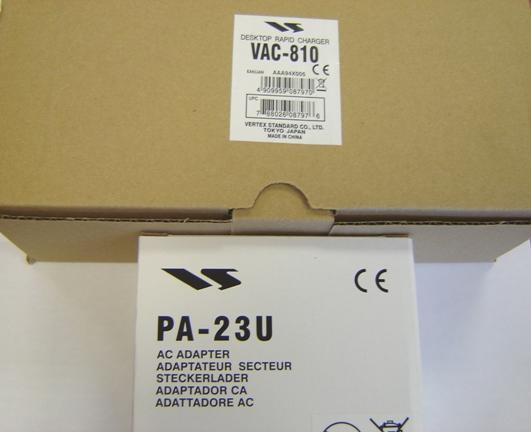 Yaesu VAC-810 desktop rapid charger PLUS PA-23U AC adapter - PAC