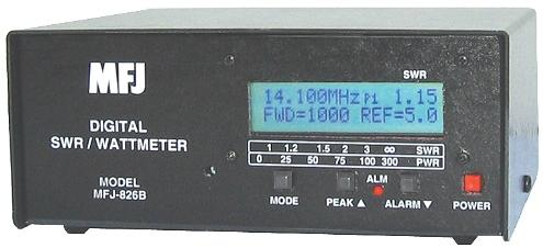 MFJ-826B - High-accuracy Digital SWR/Wattmeter, 1.8-60 MHz