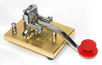 V-SKG Vibroplex Straight Key Gold 24K Gold Plated Base