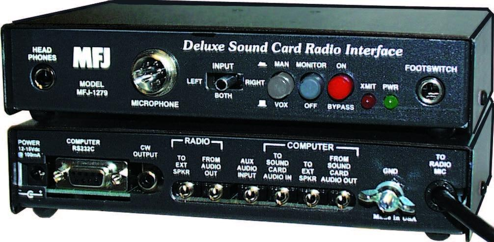 MFJ-1279TX Ultimate Sound Card Interface w/ Software, 4-Pin Roun