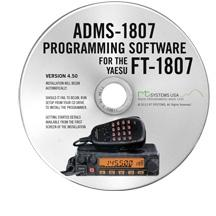 ADMS-1807 Programming software and lead for FT-1807