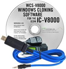 WCS-V8000 Programming Software and USB-29A cable for the Icom IC