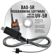 BAO-5R Programming Software and USB-K4Y cable for the  Baofeng\P