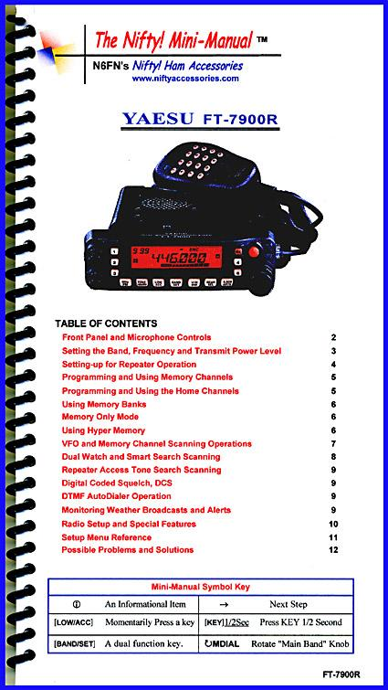FT-7900R Nifty Mini Manual