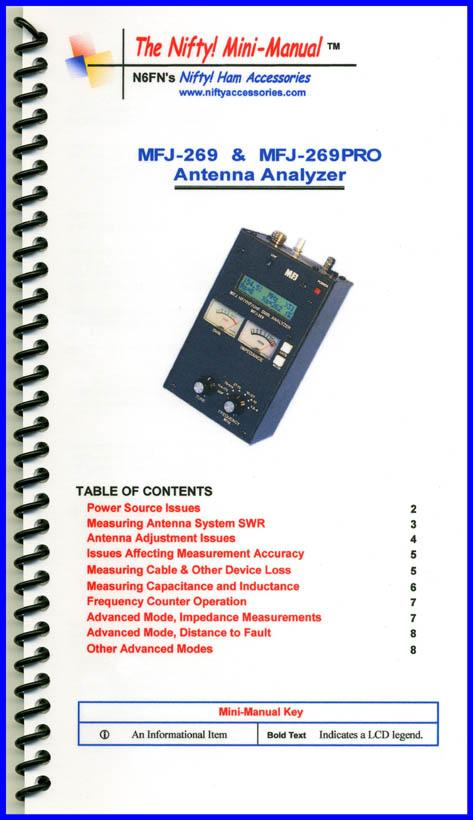 MFJ-269 and MFJ-269PRO Nifty Mini-Manual