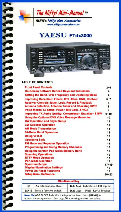 FT-DX3000 NIFTY MINI MANUAL