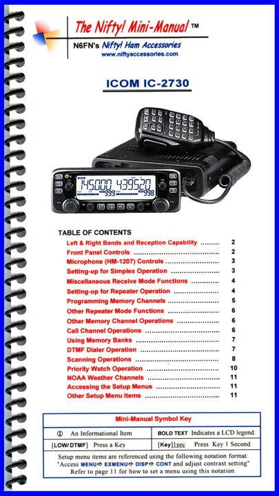 IC-2730 Nifty Mini Manual