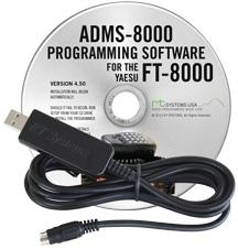 ADMS-8000 Programming Software and USB-29B cable for the Yaesu F