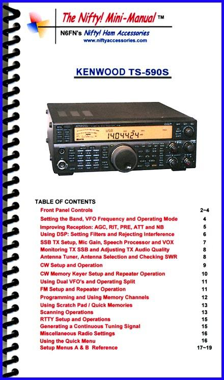 TS-590S Nifty Mini Manual