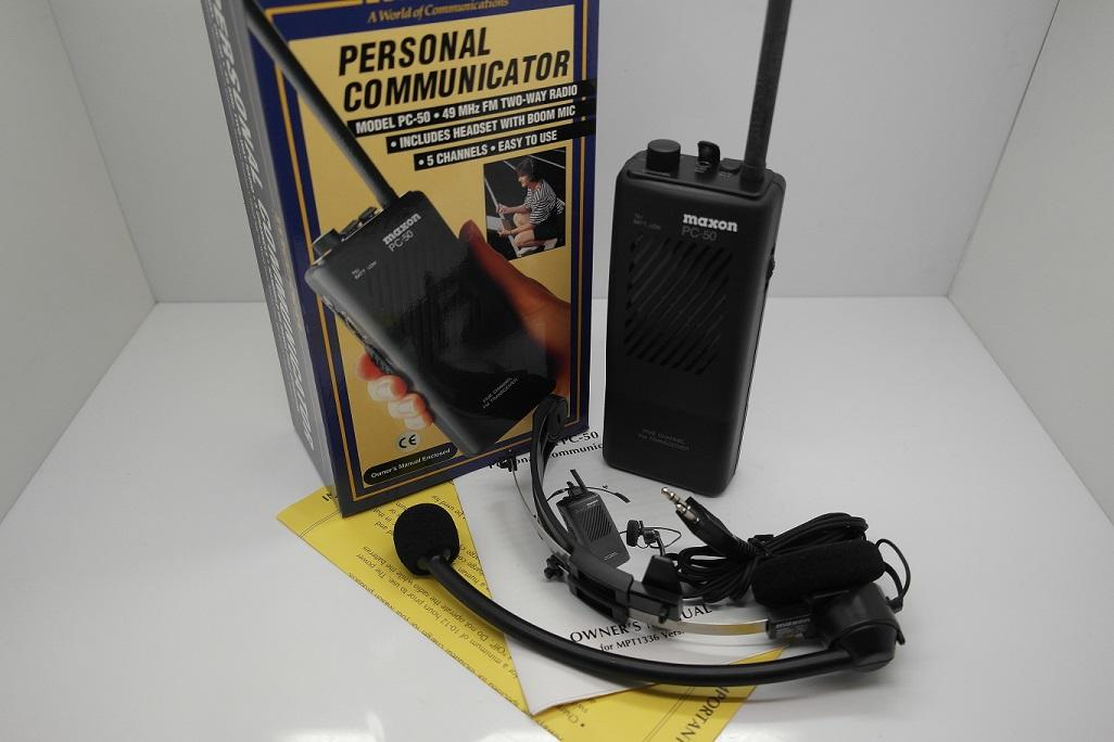 Maxon PC-50 49 MHz FM Two Way Radio - Reduced To Clear