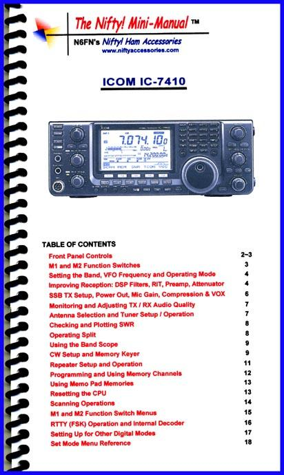 IC-7410 Nifty Mini Manual