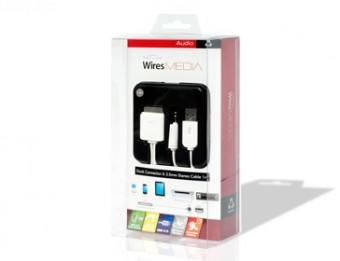 IWIRES CABLE APPLE 30 PIN DOCK TO USB + 3.5MM JACK