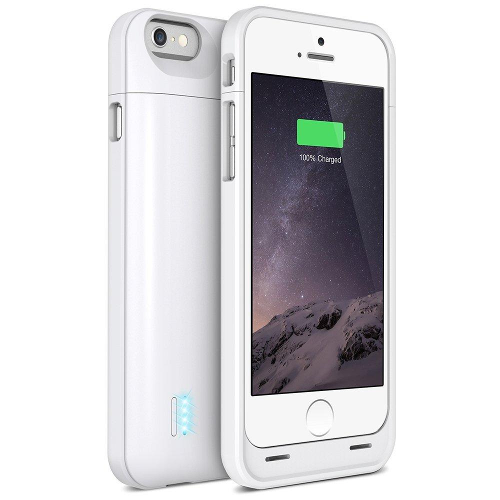 uNu DX-6 Slim Battery Case for iPhone 6 - 3000mAh - White