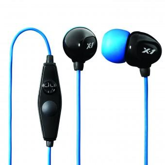 X-1 HEADPHONES SURGE IN-EAR MIC BLACK/BLUE