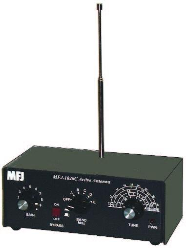 MFJ-1020C SWL Active Indoor Antenna 0.3 - 40 MHz