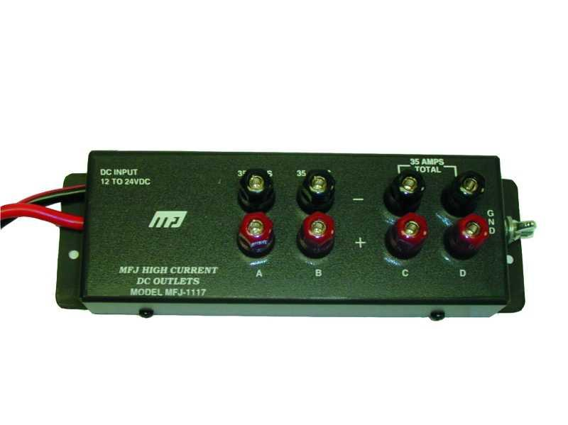 MFJ-1117 - 35 Amp Multiple DC Power Outlet w/ 4 Outputs