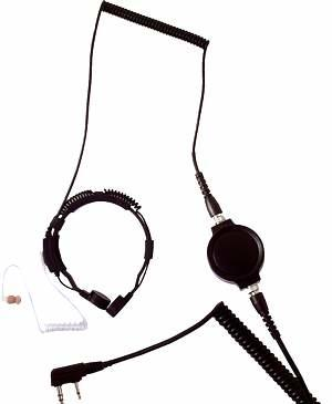 LGR-32KK ACOUST TUBE EARPHONE THROAT MIC Kenwood two pin jack