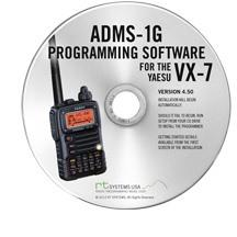 ADMS-1G Programming software and USB -57B cable for the Yaesu VX