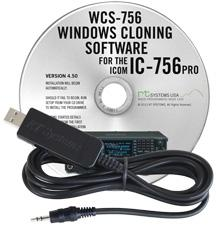 WCS-756 Programming Software and USB-RTS01 cable for the Icom IC