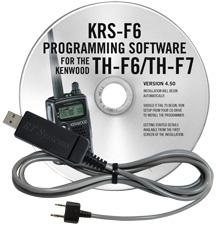 KRS-F6 Programming Software and USB-K4Y for the Kenwood TH-F6/TH