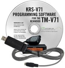 KRS-V71 Programming Software and USB-K5G for the Kenwood TM-V71