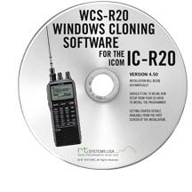 WCS-R20 Programming Software Only for the Icom IC-R20